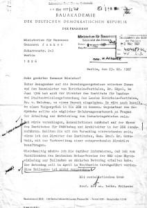 Fritsche an Junker 23.02.1987