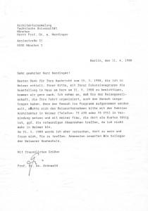Grönwald an Nerdinger 11.04.1988